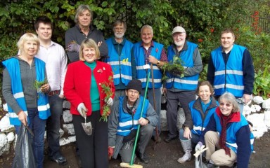 Alsager MP Fiona Bruce joins the volunteers