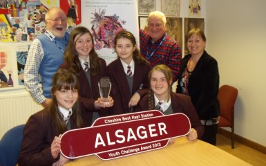 Alsager School and station volunteers celebrate awards
