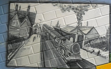 Community Mural - 164 years of Rail Services