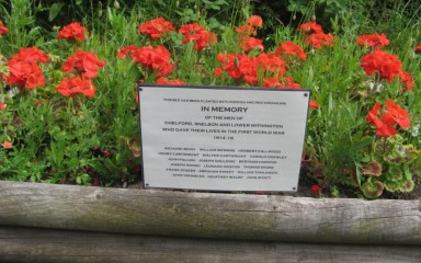 Chelford Station Remembrance Garden