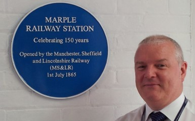 Station Manager Theo is proud of Marple Station